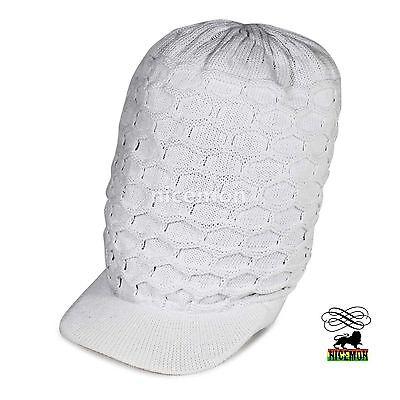 100% Cotton Rasta Reggae Selassie Jamaica Cappello Peak Marley One Love M/l Fit Tecnologie Sofisticate