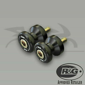 R-amp-G-Racing-M8-BLACK-Cotton-Reels-BMW-S1000R-2018-2x-Paddock-Bobbins
