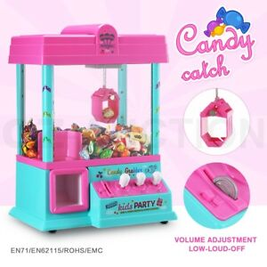 Mini-Toy-Claw-Machine-Arcade-Game-Candy-Catch-Grabber-with-LED-Lights-amp-Music