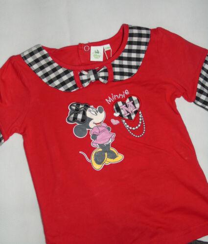 Set LA Shirt Pullover Leggins kariert Disney Minnie Mouse 62 68 74 80 86 92 98