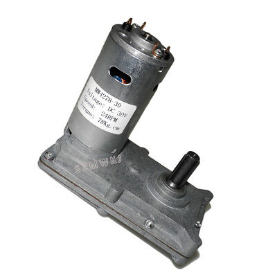 Small 7-Type Gear Motor DC 12V 24V 100RPM Slow Speed High Torque DIY Generater