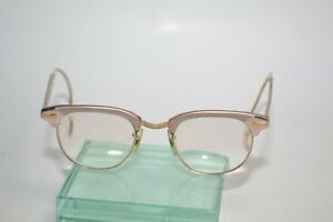 0b1ace05955 True Vintage Shuron Browline Eyeglasses frames 1 10 12K Gold-Filled ...