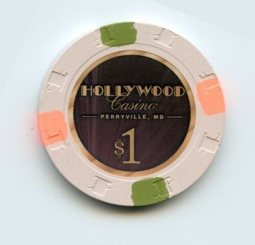 1.00 Chip from the Hollywood Casino in Perryville Maryland