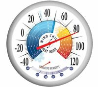 Springfield 90078 Round 13.25inch Outdoor Thermometer With Wind Chill-heat Index on sale