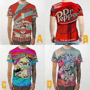 dr pepper red can drop dead bomb tee fullprint t shirt ebay