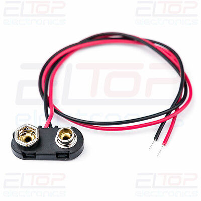 PP3 9V Square Battery Snap Connector Clip Lead 150mm 15cm Heavy Duty