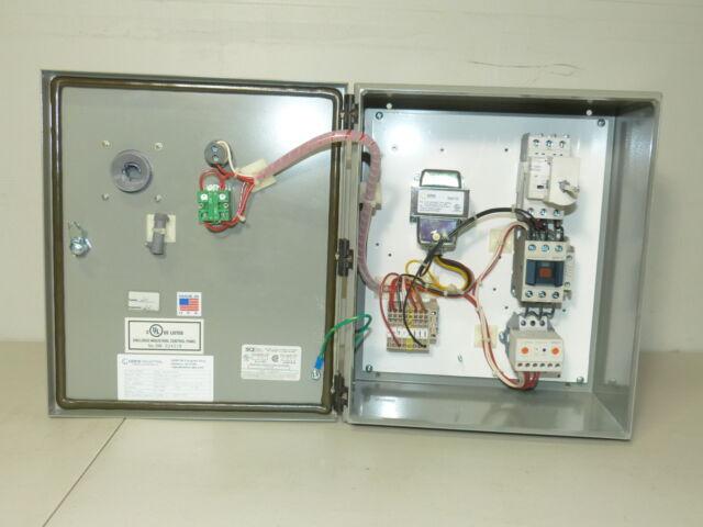 Combination Motor Starter 15 HP 480V N4//12 ABB Breaker Disconnect ELO CPT HOA