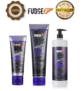NEW-FUDGE-CLEAN-BLONDE-VIOLET-TONNING-SHAMPOO-50ml-250ml-1L-CHOOSE