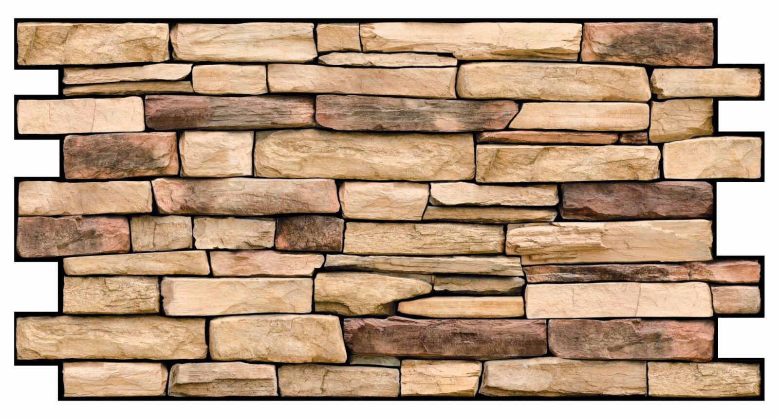 PVC Plastic Wall Panels 3D Decorative Tiles Cladding - NATURAL STONE SLATE