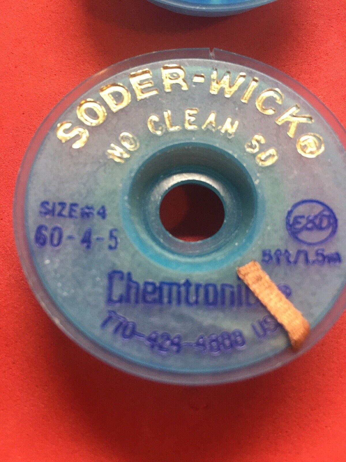 HH Chemtronics 10-5L Chem-Wik Rosin SD Desoldering Braid, 5 Pack of