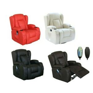 WESTWOOD-Leather-Recliner-Armchair-Swivel-Heated-chair-Massage-Gaming-Chair