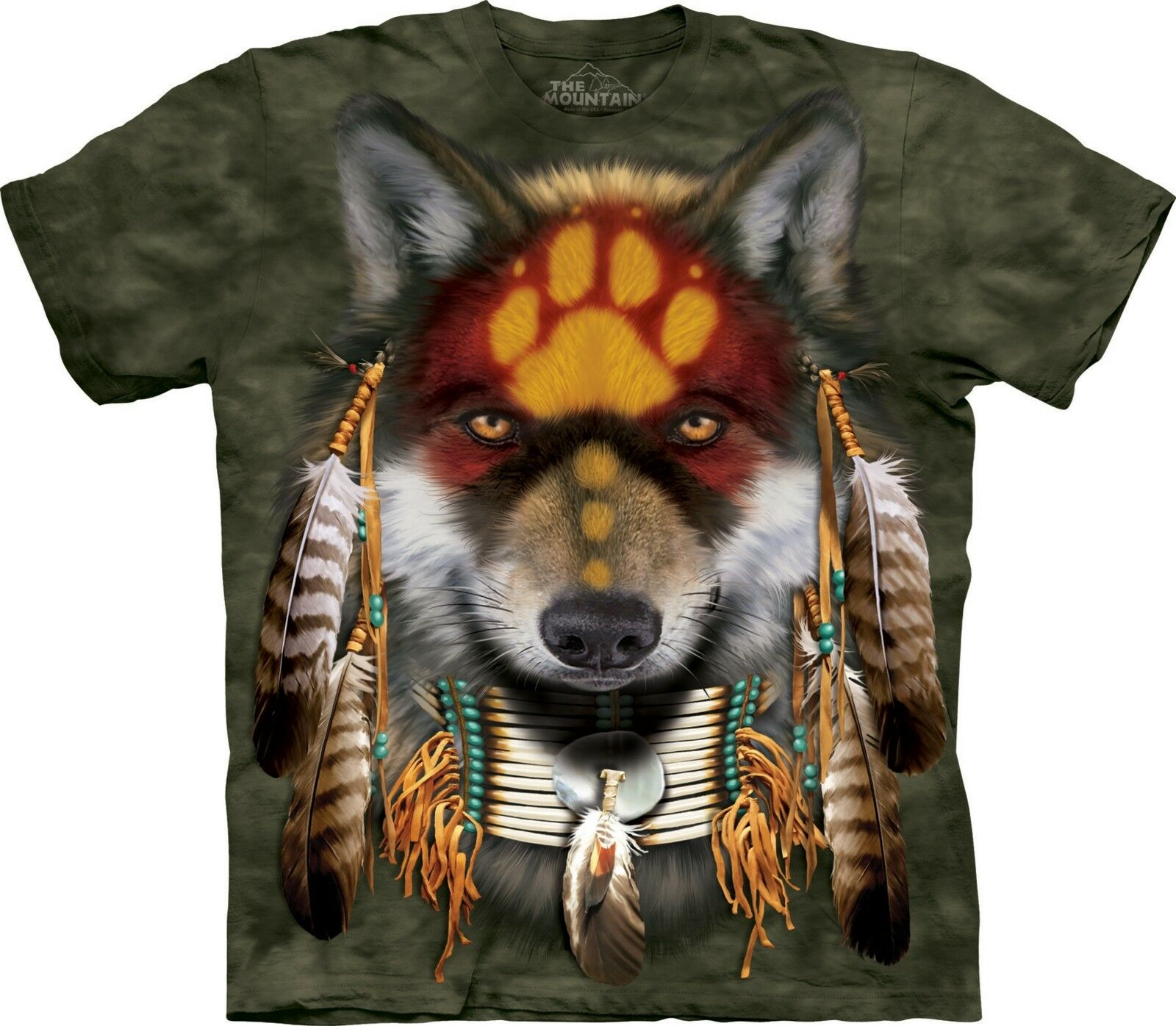 Native Wolf Spirit T Shirt Adult Unisex The Mountain
