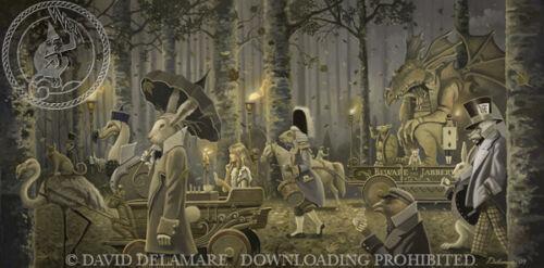 Alice in Wonderland Giclée Print Beware the Jabberwock David Delamare