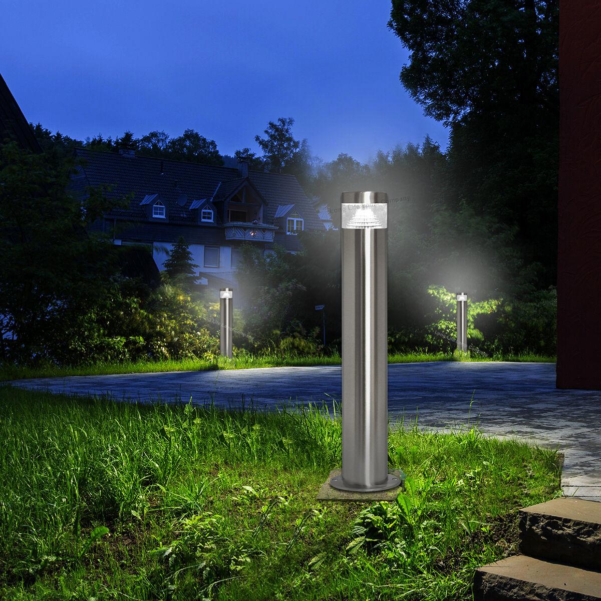 Modern LED Bollard Garden Lamp Post Stainless Steel