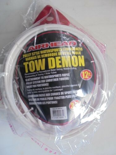 KWICK TEK    AIRHEAD  Tow Demon Harness 12/' Cable AHTH-7  WATER SKI INFLATABLES