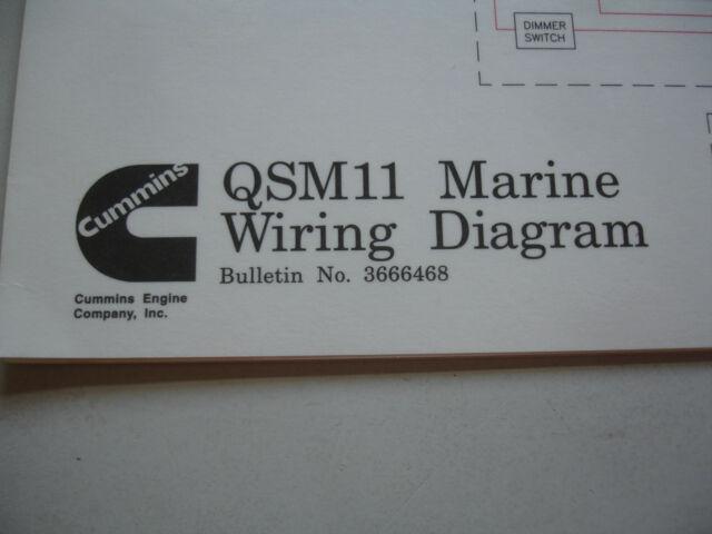 Cummins Diesel Marine Qsm11 Wiring Diagram Service Shop