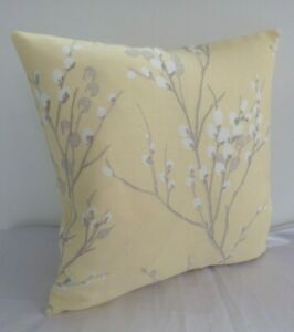 """REVERSIBLE 16/"""" Laura Ashley Pussy Willow Camomile Yellow Fabric Cushion Cover"""