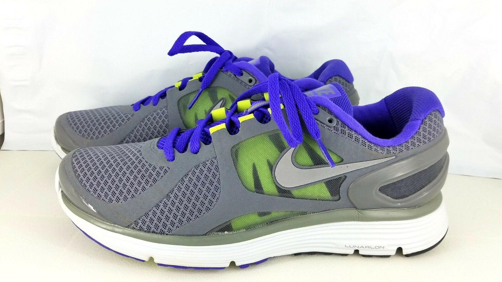 Nike Lunareclipse+ 2 Cool Grey Reflect Silver-Pure Purple 487983-005 Men's SZ 8