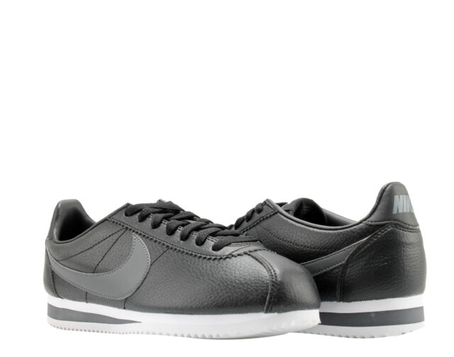 differently b3b9e 6cf28 Nike Classic Cortez Leather Shoes Mens 9 Black Dark Grey White 749571 011