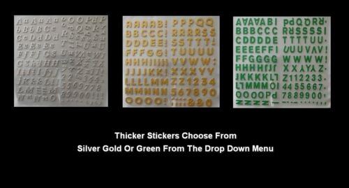 Thicker Stickers Christmas Letters Christmas Occasional Gold Silver Or Green