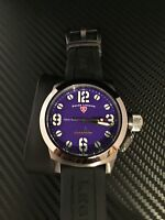 Swiss Legend Men's 10543 Submersible Purple Dial, Black Silicone Watch