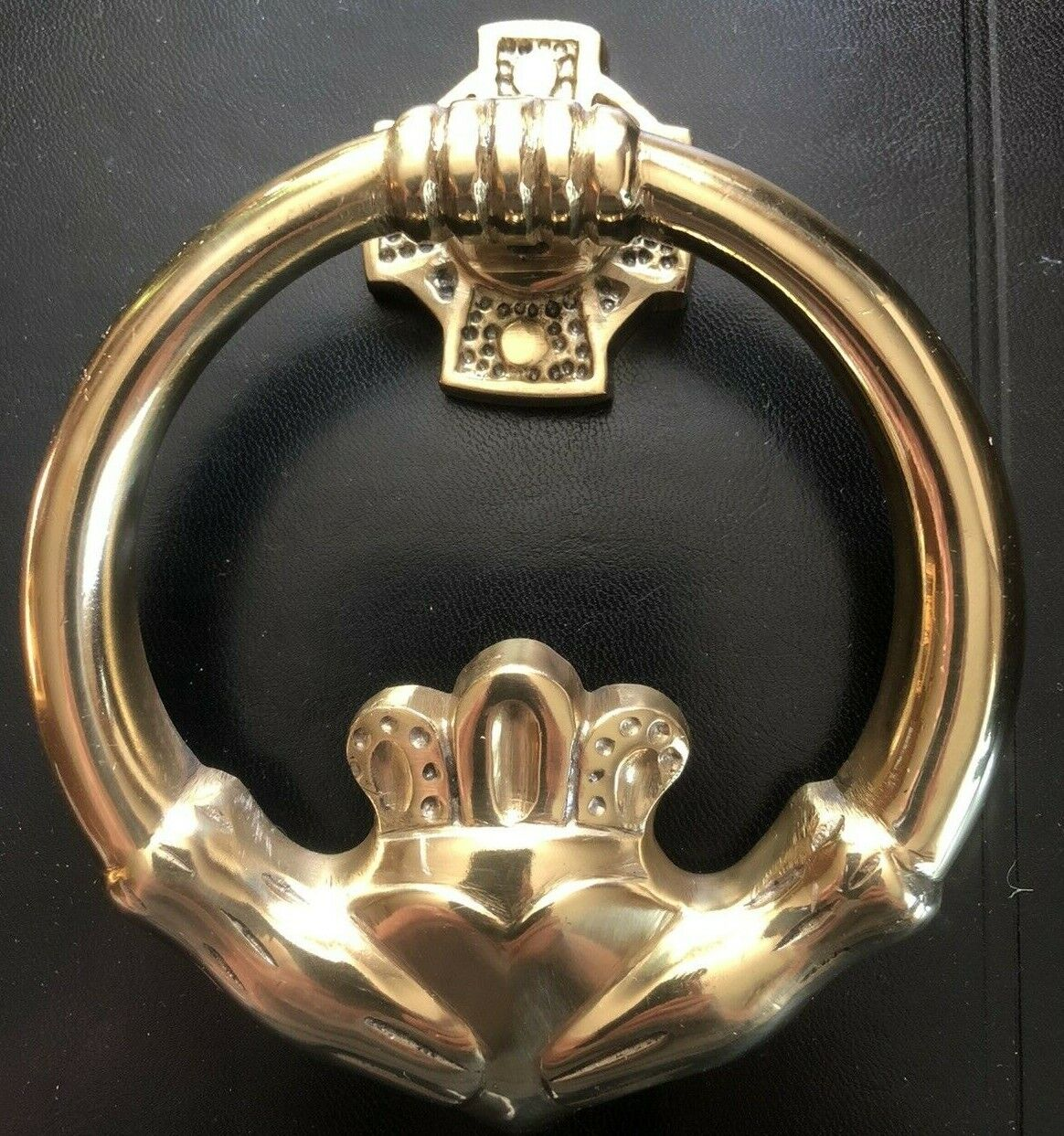 Claddagh Door Knocker Brass For Sale