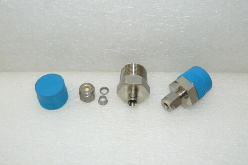 """2 NEW SWAGELOK SS-400-1-12 STAINLESS STEEL MALE NPT 3//4/"""" X 1//4/"""" TUBE CONNECTORS"""