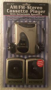 Vintage Lenoxx Sound AM/FM Stereo Cassette Player Model 9190M With Headphones