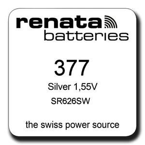 Renata-377-SR626SW-SR66-Silver-Oxide-Watch-Batteries-SELECT-1-2-3-4-5-amp-10-x-QTY