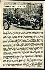 Erich Hoffmann--Gut für 320 Sachen--Weltrekord im Dreirad --Werbung von 1959