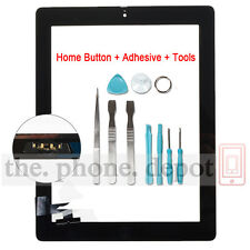 Black Replacement For IPAD 2 Touch Screen Digitizer Front Glass With Home Button