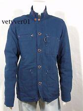 New TOMMY HILFIGER DENIM Cotton Oxford Worker Jacket Blazer Dark Indigo sz XL