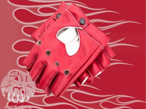 New Womens Faux Leather Fingerless Punk Motorcycle Cosplay Driving Gloves