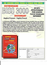 biss3000  dictionary dictionnaire English French anglais francais pdf format