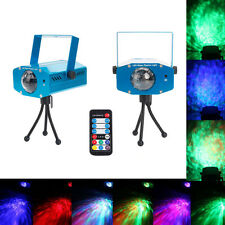 New 9W 3-RGB LED R&G Ripple Effect Stage laser Projector Light Show + Remote