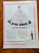 1956 Metropolitan Life Insurance Ad Getting Married?