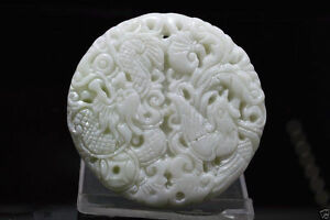 China-natural-jade-China-hand-carved-Dragon-phoenix-white-Jade-Amulet-Pendant