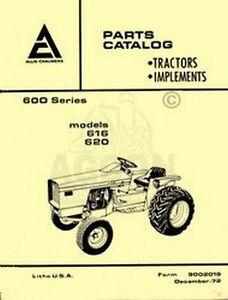 Allis Chalmers 616 620 600 Tractor Parts Catalog Manual | eBay