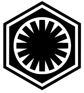 First Order Star Wars Logo Vinyl Decal Sticker Choose Size Color Ebay