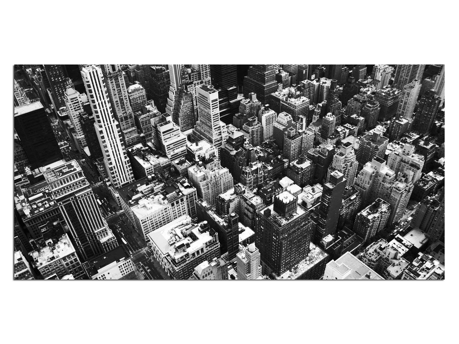 Deco Glass Picture EG4100500920 NEW YORK AMERICA b w Größe 39,37  x 19,68  HD Pri
