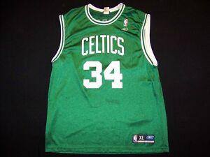 online retailer ffdde 51aa0 Details about Boston Celtics #34 Paul Pierce Reebok RBK NBA basketball  Jersey size XL