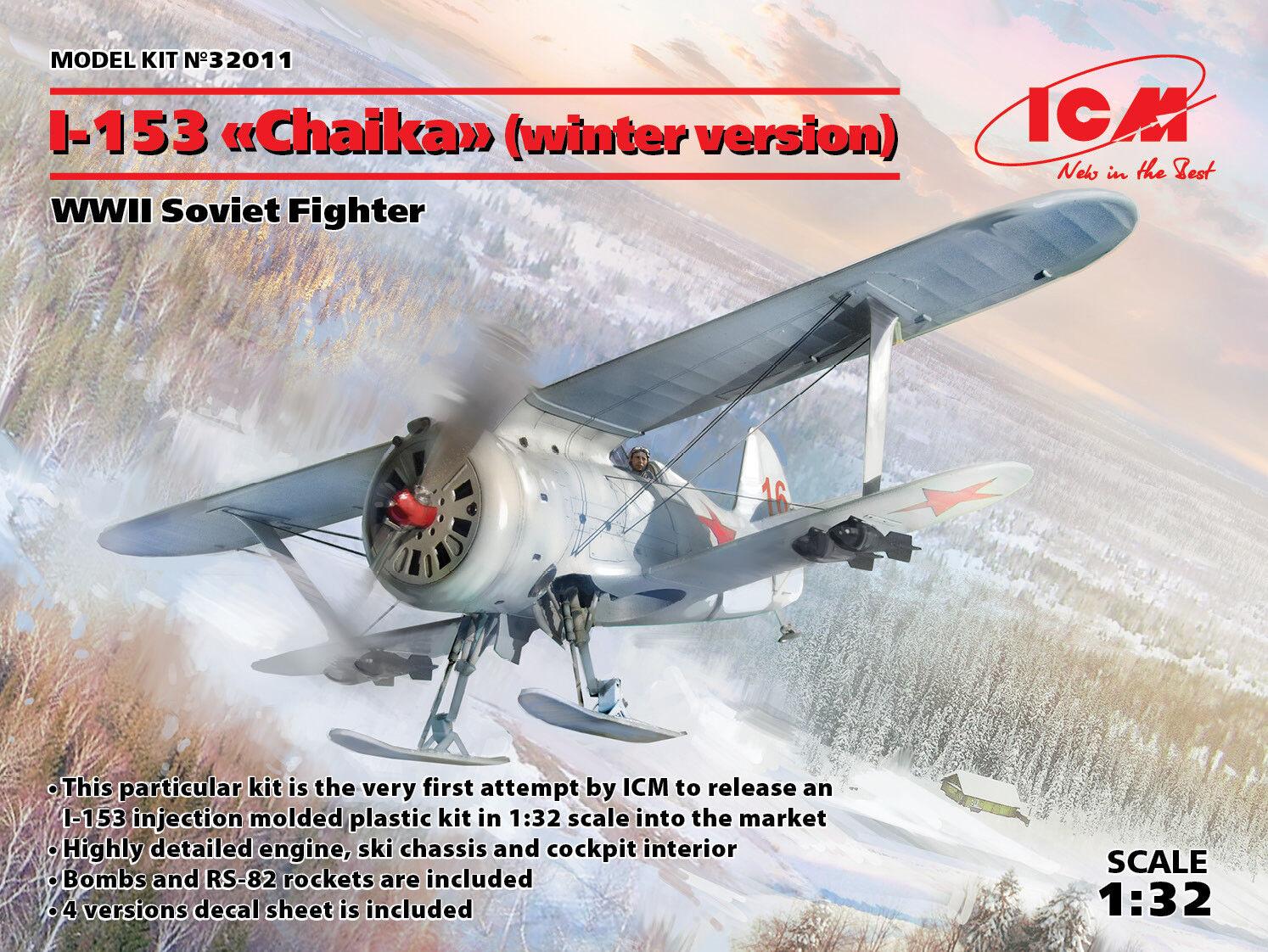 Icm 1 32 Polikarpov I-153 Chaika (Inverno Versione)  32011