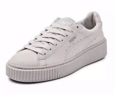 puma basket platform grey