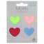 Coloured Hearts Red Pink Green Iron On Motif Patch Child or Adult Embellishment