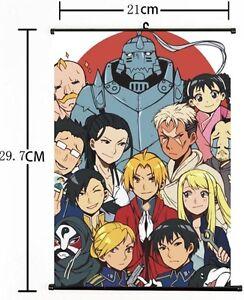 Hot Japan Anime Cosplay Fullmetal Alchemist Wall Scroll Art Poster Home Decor 02