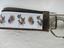 German Shepherd Key Chain or Key Fob. Handmade in USA.