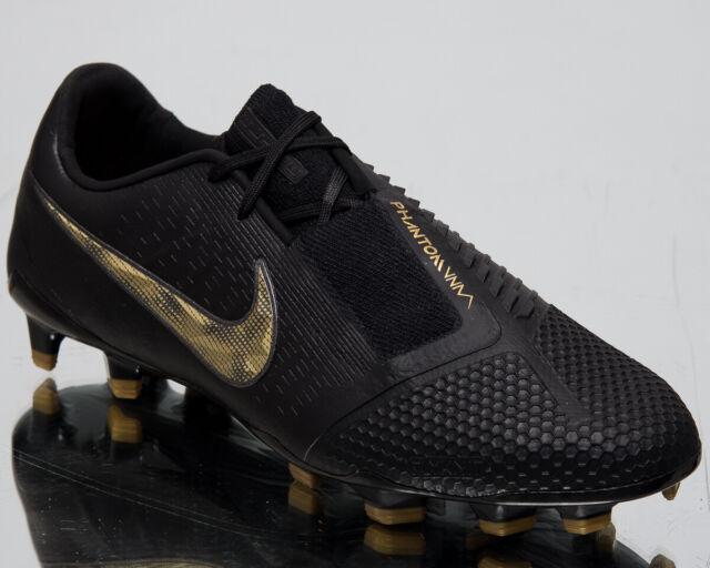 size 40 f266f 07b37 Nike Phantom Venom Elite FG Football BOOTS Size UK 10 Black/ Gold