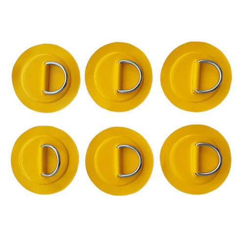 6Pcs Stainless Steel D-Ring Patch Pad for Inflatable Boat Dinghy Kayak Canoe