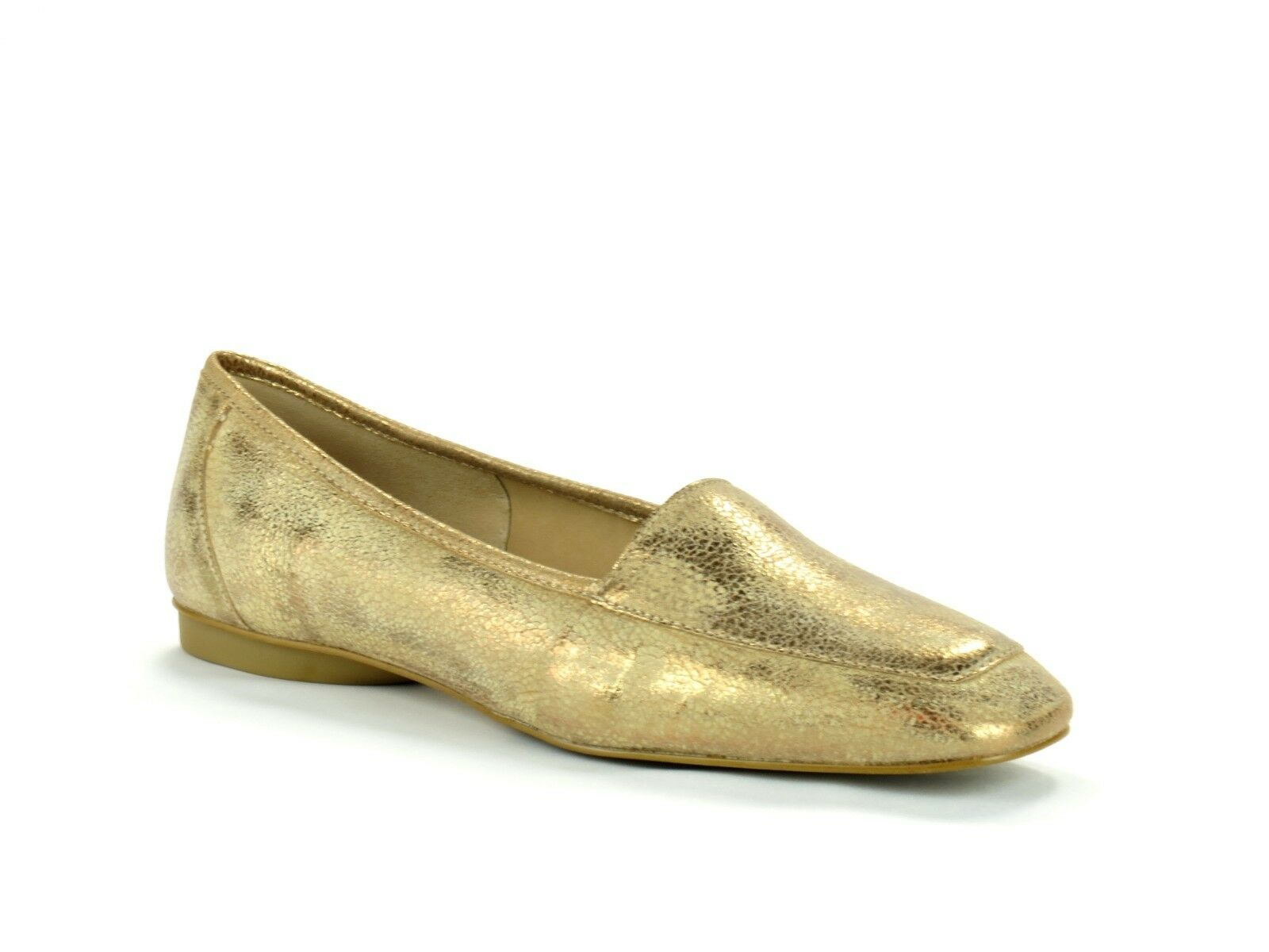 Donald J Pliner Deedee Bronze Metallic Tumbled Pelle Loafer Slip On Loafer Pelle Flat 7 ced1d0