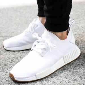 541861c468652 Adidas NMD R1 PK Primeknit Triple White GUM PACK Nomad BY1888 Men s ...
